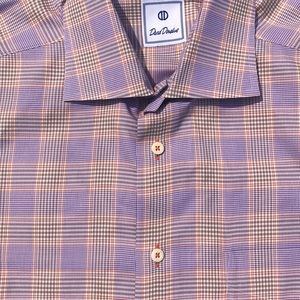 David Donahue Button Up Dress Shirt Large